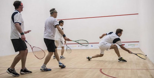 Jumbo doubles at the Tanglin club